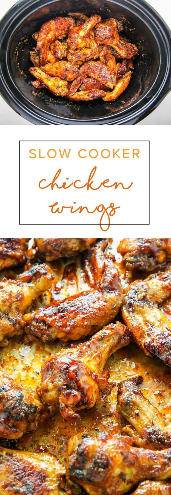 This is the best way to make a ton of juicy, flavorful chicken wings! The slow cooker is the best thing to happen to all kitchens and this recipe is proof! A must, easy way to cook chicken wings