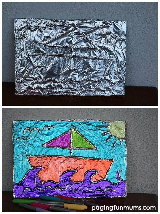 Tin Foil Art - such beautiful results! - Paging Fun Mums