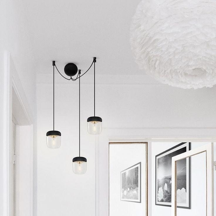 Kit de suspension 3 lampes Cannonball Noir - Vita | Comptoir des Lustres