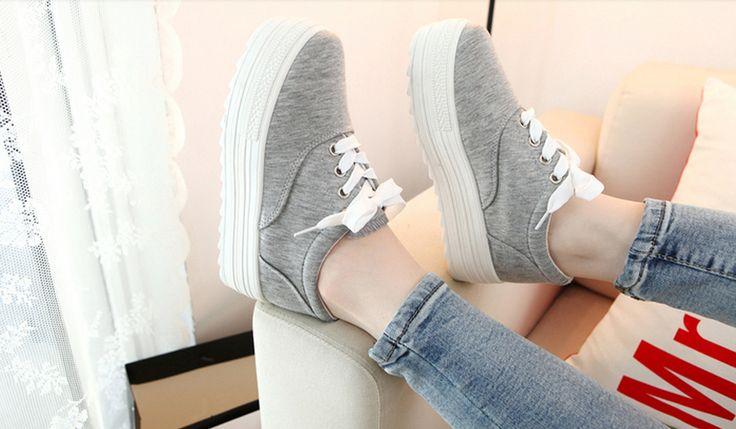 6 Цвета Белый И Черный Холст Женская Обувь Размер 35 39 Новых Низкой Холст Туфли На Платформе Женщины Повседневная Обувь купить на AliExpress