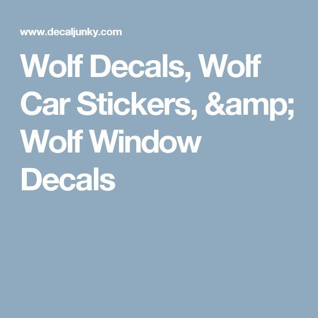 Wolf Decals, Wolf Car Stickers, & Wolf Window Decals