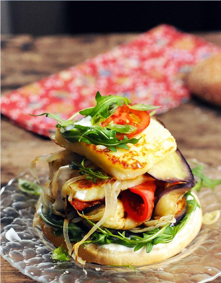 Hamburger au Grillis et aux légumes grillés