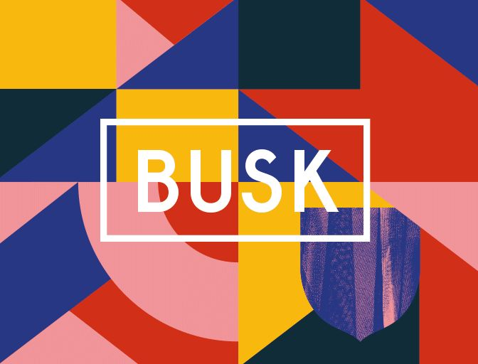 Busk Street Music Festival, Design: Mut. Thomas Kronbichler, Adèle Hurbault