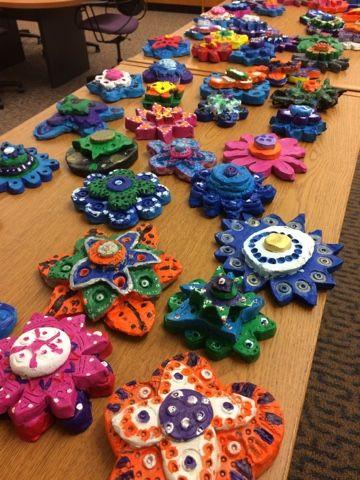 Jamestown Elementary Art Blog: Fifth grade Georgia Okeeffe clay flowers