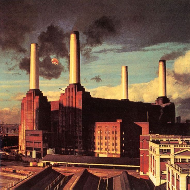 Pink Floyd artwork by Hipgnosis & Storm Thorgerson (Animals, 1977).