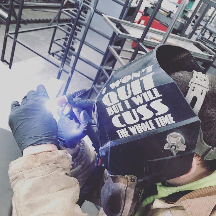 Warren doing a little tig welding on some 20g cold rolled boxes. . . . . #nexusfab #welding #welder #metalfab #metal #fabrication #weldporn #weld #weldernation #metalworking #steel #miller #tig #dynasty #ckworldwide #coldrolled