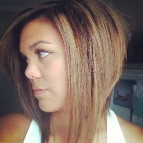 Balayage soft ombré asymmetrical bob. Hapa Asian hair ...