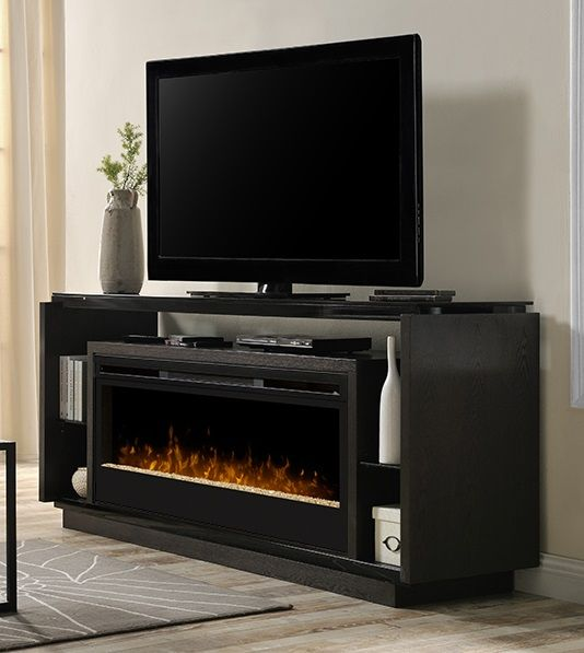 """Dimplex David media cabinet with 50"""" electric #fireplace."""