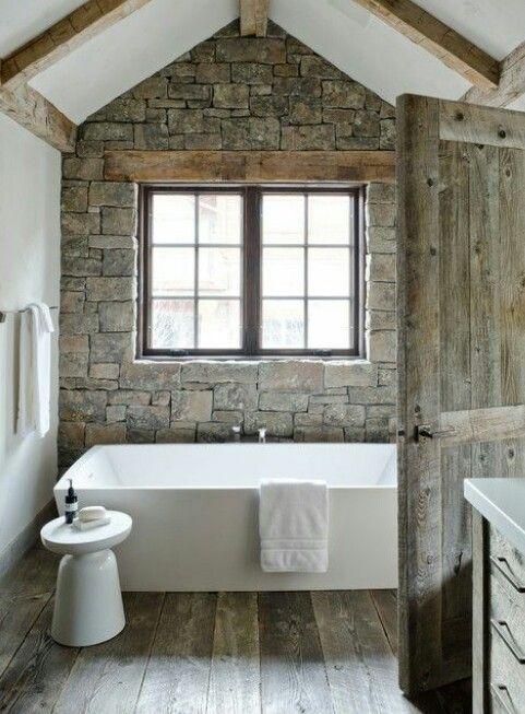 Stone wall..love the exposed lintel