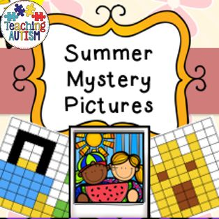 Summer Mystery Picture Color by Number Activity  A fun activity where students have to follow instructions at the bottom of the page to fill numbers in different colors to make a summer picture!!  Great for end of year activity, for early finishers etc.  This includes 21 different pictures. One picture comes in two different color styles (22 in total). Beach ball, watermelon, bikini, boat, palm tree, sand castle, ice cream, rainbow, fish, swimming pool, crab, bucket and spade, sun, snorkel…