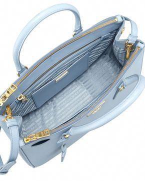 b7f78320f87703 Prada Saffiano Small Double-Zip Executive Tote Bag, Blue (Astrale)  #Pradahandbags