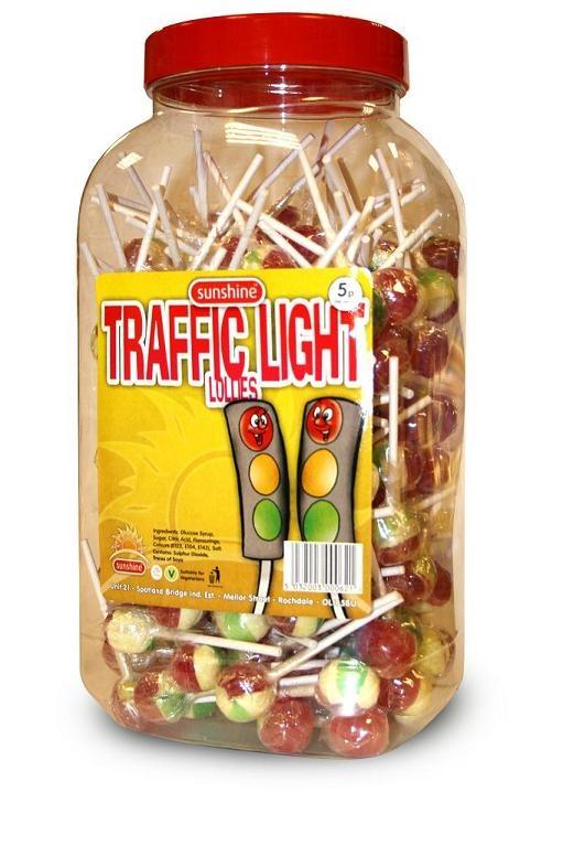 Traffic Light Lollies