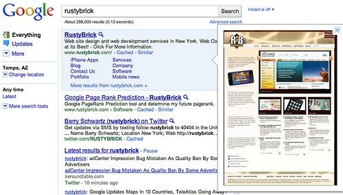 """Google oficialnie zdjęło podgląd stron (#Instant Preview) z wyników wyszukiwania. Powodem jest """"bardzo niska użyteczność"""" dla wyszukujących."""