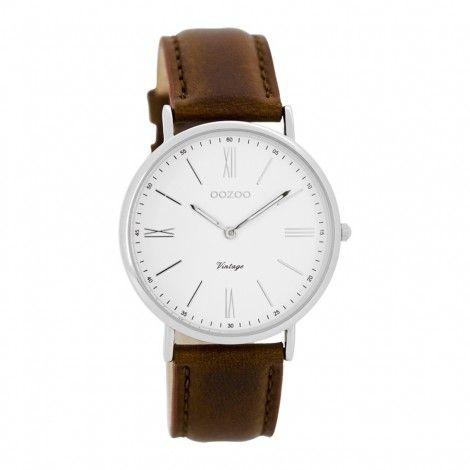 OOZOO Vintage horloge Cognac C7716 - Dames