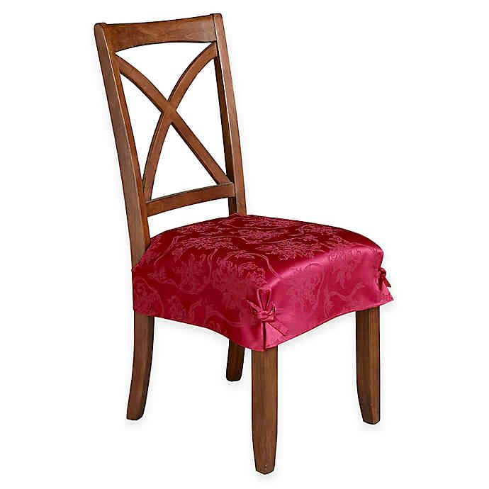 Christmas Ribbons Seat Covers Set Of 2 Bed Bath Beyond Dining Room Chair Covers Dining Room Seat Covers Seat Covers For Chairs