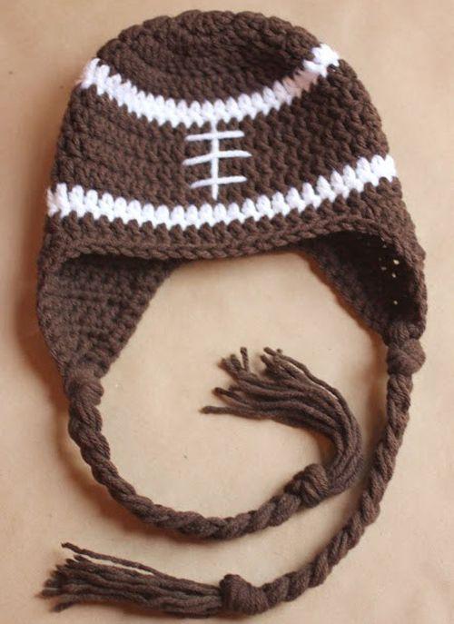 Crochet For Children: Football Earflap Hat - Free Pattern
