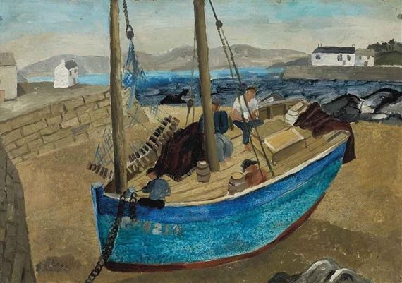 The Blue Boat (1929) by Christopher Wood