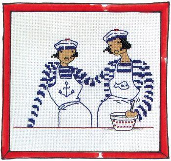 Rue du Port - Broderie à points comptés - Broderie - Copines en cuisine