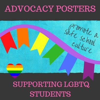 Show your support and advocate for LGBTQ Students and Families with these posters, promoting a safe school environment.   Four different styles and messages to chose from.  They include:You BelongSafe SpaceYour Are Lovable, Worthy, Enough, BraveCelebrate YouDisplay on a bulletin board, in the classroom, school counseling and administration offices, and Gay Straight Alliance  (GSA) Projects.