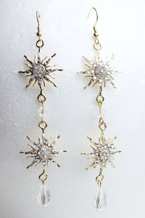 Phantom of the Opera Earrings (Gold) by NerdyDesigner on Etsy