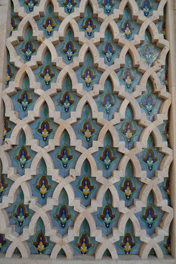Details about hassam garden painting ceramic bathroom tile murals 2 - Tile Zellij Hassan Ii Mosque Via Jeffrey Bale S World Of Gardens