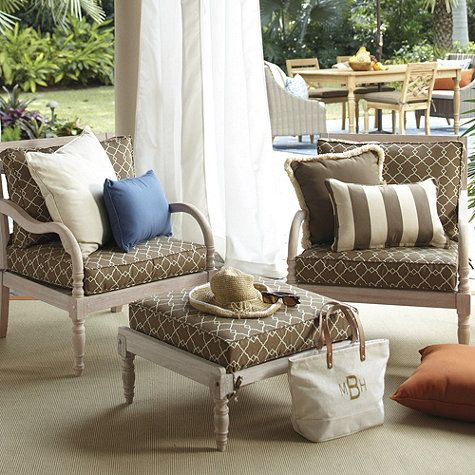 New for Spring  Ceylon Lounge Chair by Ballard Designs. 66 best Seating and Dining images on Pinterest   Gardens  Green