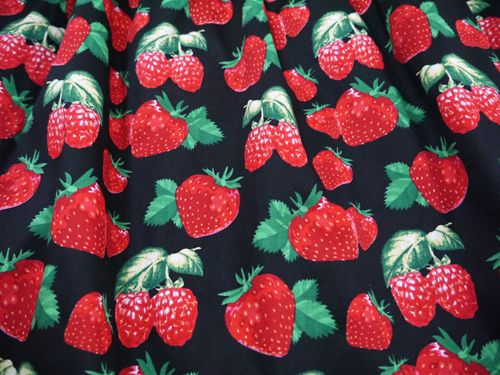 Fabric used in winter collection 2014. Strawberry.