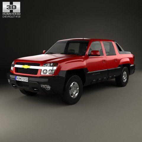 Chevrolet Avalanche 2002 3D Model .max .c4d .obj .3ds .fbx .lwo .stl @3DExport.com by humster3D