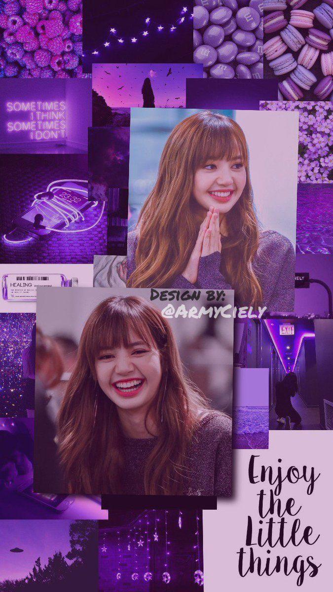Wallpaper Purple Aesthetic Lisa Blackpink Lisa Blackpink Wallpaper Purple Aesthetic Blackpink Lisa