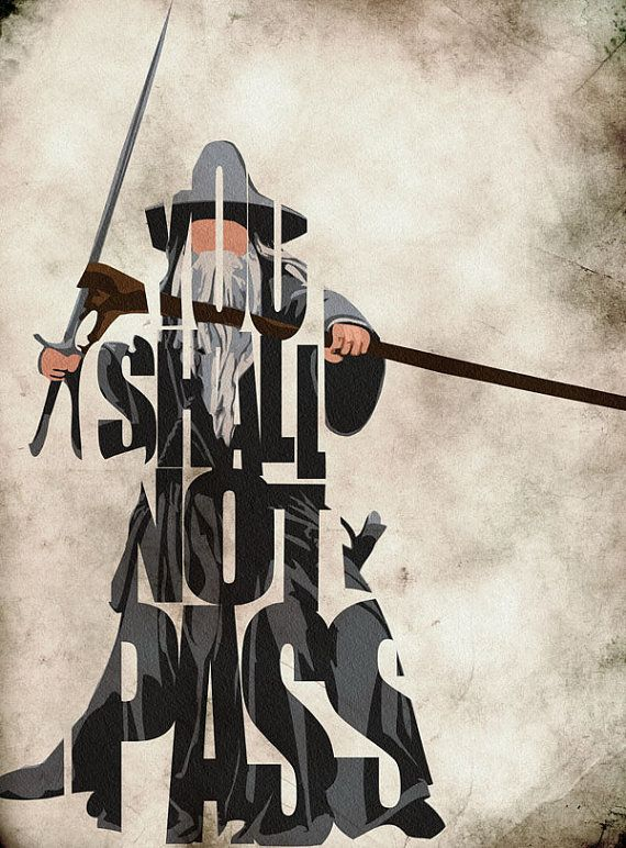 Gandalf Inspired Poster  Minimalist The Lord of the by GeekMyWalL, $25.00