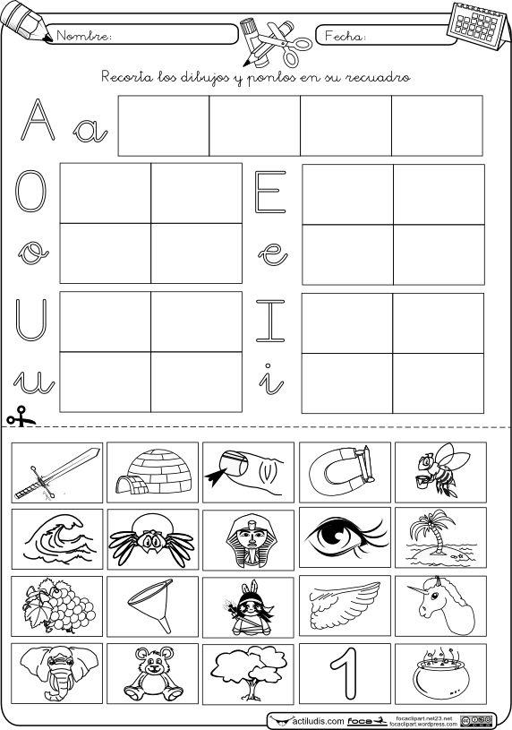 Nueva actividad para nuestro método de lectoescritura en el apartado de vocales. En concreto se trata de una actividad para reconocer las vocalescon las que empiezan el nombre de unos dibujos, qu...