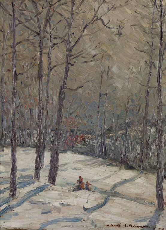 Albert H. Robinson - Winter Rosedale Ravine 24 x 18 Oil on canvas (1908)