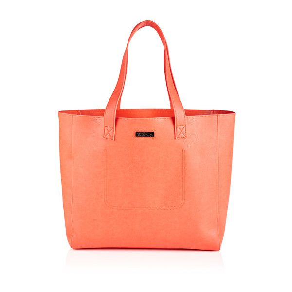 Superdry Elaina Tote Bag ($55) ❤ liked on Polyvore featuring bags, handbags, tote bags, pink, zippered tote bag, zip tote bag, red handbags, red tote and pink tote handbags