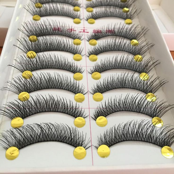 10Pair Cotton Stalk Artificial Eyelashes False Eyelashes Natural Long Black Fake Eyelashes Bigeye Lashes Extension Makeup Tools