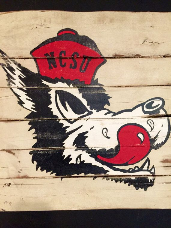 North Carolina State Wolfpack Sign / NC State by PalletsandPaint