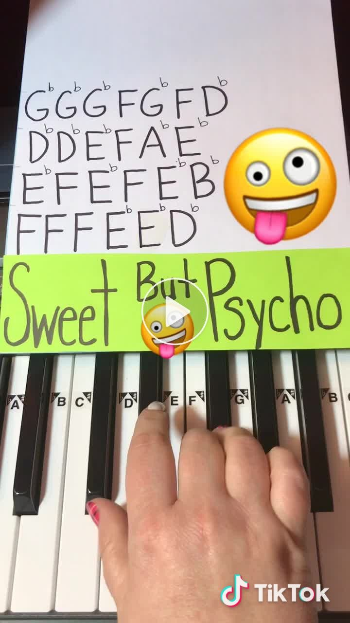 How To Play Sweet But Psycho On Piano By Ava Max