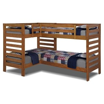 IDEAL FURNITURE FOR A FAMILY ON A BUDGET, WITH A SMALL SPACE AND A WHOOOOOOOOOLE LOTTA KIDS.  YAASS!!! Drew II Kids Furniture Double Twin Bunk Bed |