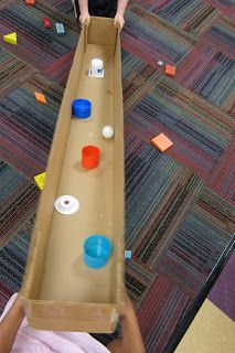 Mrs. Karen's Preschool Ideas: Science Experiments.... Maze with different shaped objects to navigate