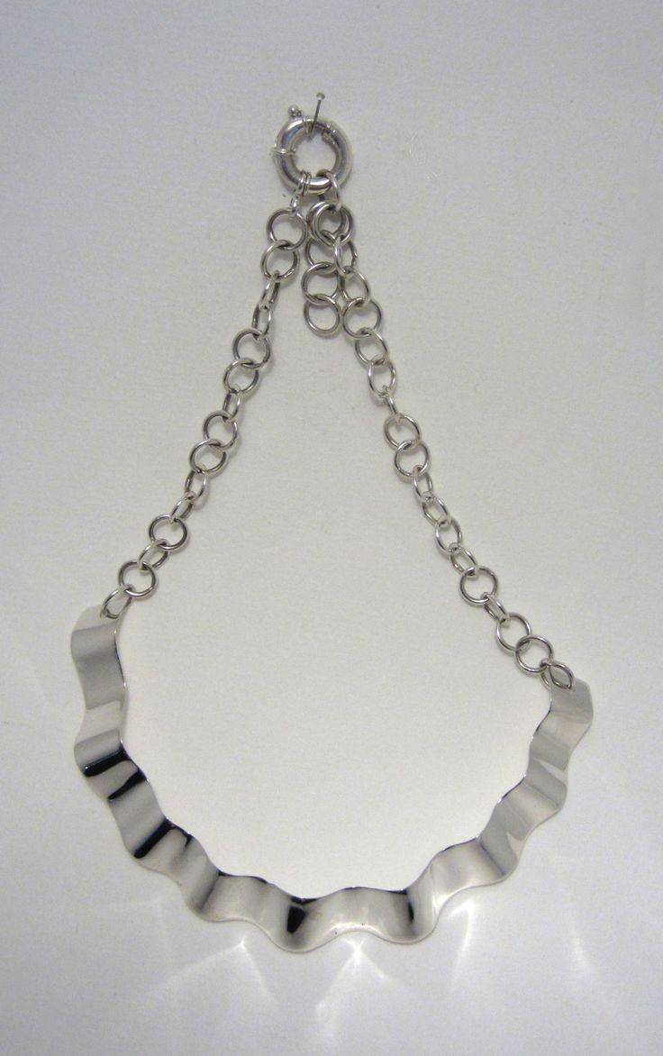 Anna Balasoglou - Corrugated Necklace - sterling silver