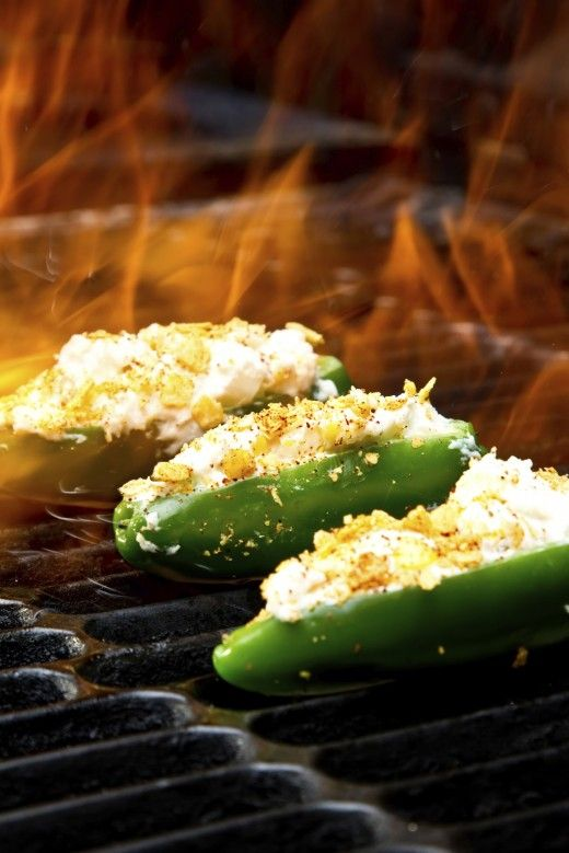 Grilled & Stuffed Jalapeno Poppers    (I've done these in the oven, or toaster oven...works great.)