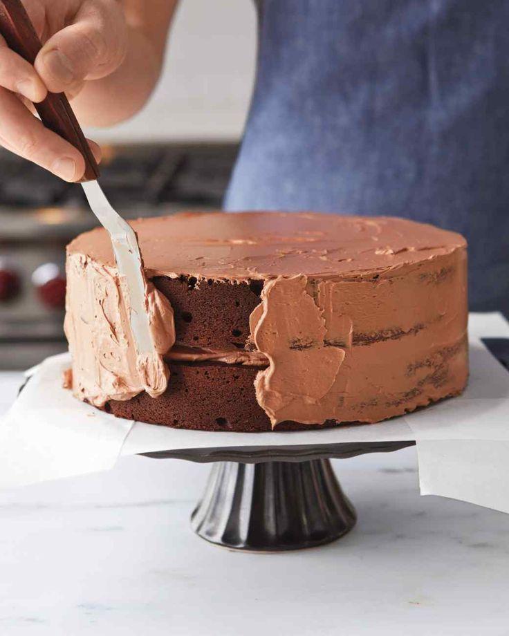 Chocolate Swiss Meringue Buttercream Frosting Martha Stewart Living, Oct 2015