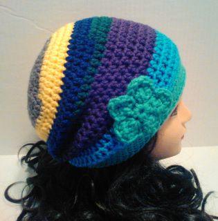 $20 Colors:aqua,teal,purple,green,blue,yellow, grey. Material: 100% soft acrylic yarns  Size: Adult