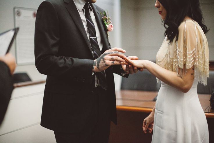 Intimate Phoenix Courthouse Elopement Coverup Topper