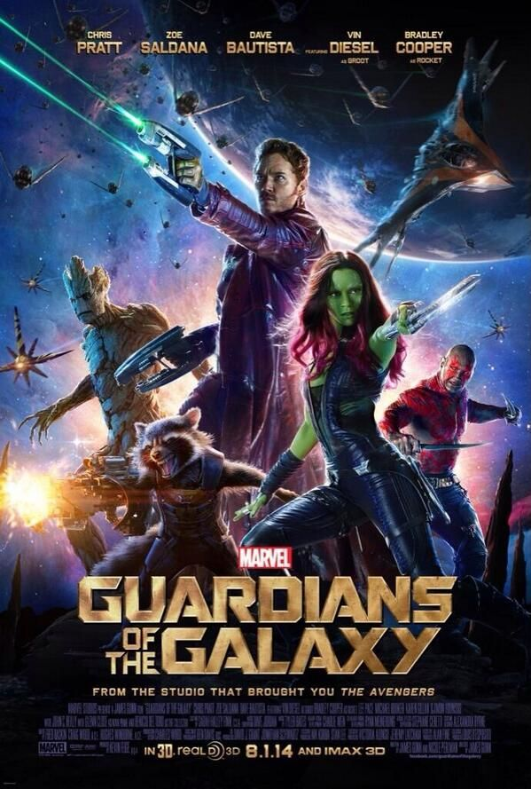 Guardians Of The Galaxy! // definitely a must see. awesome movie. great comedic timing, wonderful cast, amazing visual effects, kick butt action. i can't tell you how much i am fangirling right now.