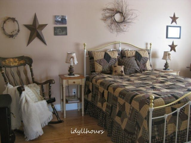 images of prim country bedrooms | My new (old) primitive country bedroom...