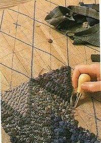 Prodded Diamond Rug - Click on the photo to learn more http://lionqz.blogspot.co.uk/2008/03/prodded-diamond-rug.html