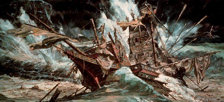 La Armada Invencible-naufragio de sus barcos por el temporal