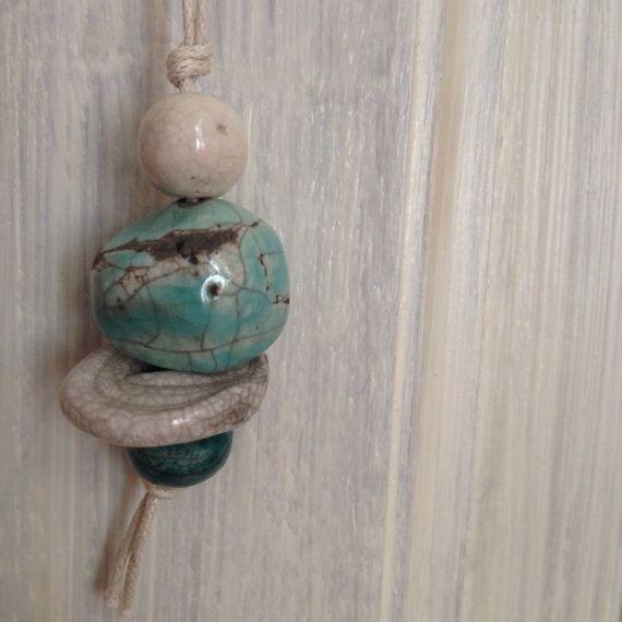 Ciondolo in ceramica raku