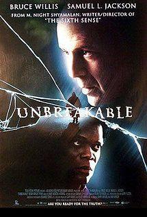 : Movie Posters, Unbreakable 2000, Samuel Jackson, Bruce Willis, Night Shyamalan, Superhero Movie, Movie Tv Night, Favorite Movies, Superheroes