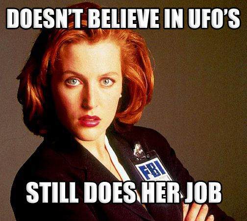 still does his job meme 007 scully xfiles ufo